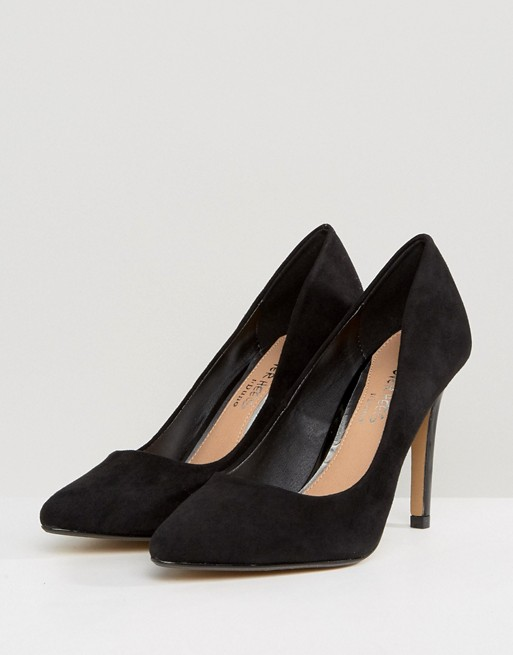471700ab22 Head Over Heels By Dune Alice Black Heeled Court Shoes Women ...